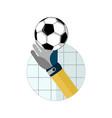 football goal saving vector image vector image