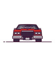 front view retro 70s car vector image vector image