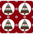 Gifts Christmas tree on red background seamless vector image