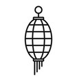 gold chinese lantern icon outline style vector image vector image