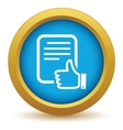 Gold like document icon vector image vector image