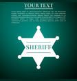 hexagonal sheriff star icon sheriff badge symbol vector image vector image
