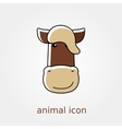 Horse icon Farm animal vector image