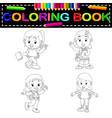 kids school coloring book vector image vector image