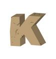 letter k stone font rock alphabet symbol stones vector image vector image