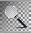 magnifying glass magnify glass lens vector image