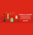 medicine cannabis banner horizontal concept vector image
