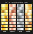 metallic gradations set vector image