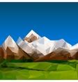 Mountainous terrain polygonal background vector image vector image