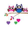 owl mom dad vector image vector image