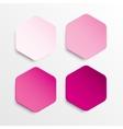 Paper Banner Pink Mockup Hexagon