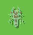 paper sticker on background of lobster vector image vector image