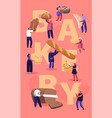 people eating and cooking bakery concept tiny vector image vector image