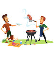 picnic summer barbeque party poster vector image