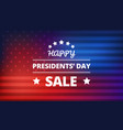 presidents day sale background vector image vector image