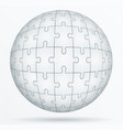 puzzle world in the form a sphere vector image vector image