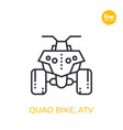 quad bike all terrain vehicle atv linear icon vector image