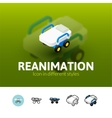 Reanimation icon in different style vector image vector image