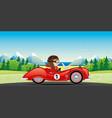 red retro car vector image vector image
