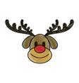 rudolf christmas cartoon vector image