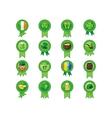 Saint Patricks Day Badges vector image