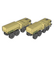 sand military vehicle on white background vector image vector image