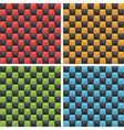 seamless checkered patterns vector image