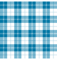 Seamless tartan plaid pattern in tealish blue and vector image