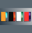 set abstract gradient design cover vector image vector image
