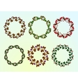 Set of berry frames - wreath vector image