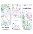 set vertical floral banners or backgrounds vector image