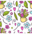 small floral seamless pattern with gentle wild vector image