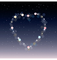 Starry heart as a constellation vector image vector image