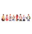 student people diversity set vector image