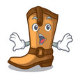 surprised old cowboy boots in shape character vector image vector image