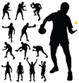 table tennis player silhouette vector image vector image