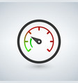 the tachometer speedometer and indicator icon vector image