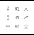 travel and tourism outline icons set vector image vector image