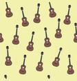 ukulele retro vintage seamless pattern background vector image