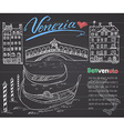 Venice Italy sketch elements Hand drawn set with vector image vector image