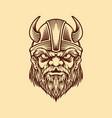viking head in vintage style vector image