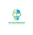 vr technology icon vector image