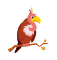 vulture funny alphabet animal vector image vector image