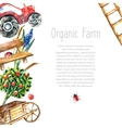 Watercolor organic farm vector image vector image