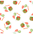 Watercolor seamless pattern for holiday vector image vector image