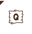 wooden alphabet or font blocks with letter q vector image vector image