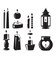 monochrome symbols of candles for birthday vector image