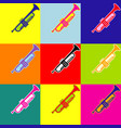 musical instrument trumpet sign pop-art vector image