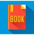 flat book design concept vector image