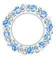 Gzhel style circle frame vector image